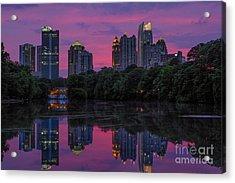 Sunset Over Midtown Acrylic Print