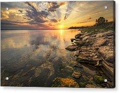 Sunset Over Milford Lake Acrylic Print