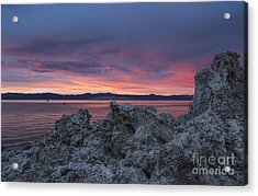 Acrylic Print featuring the photograph Sunset Over Mono Lake by Sandra Bronstein