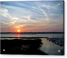 Sunset Over Murrells Inlet II Acrylic Print by Suzanne Gaff