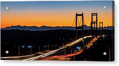 Sunset Over Narrrows Bridge Panorama Acrylic Print