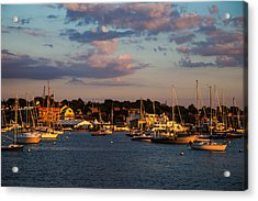 Sunset Over Newport Acrylic Print by Karol Livote