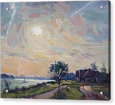 Sunset Over Niagara River Acrylic Print