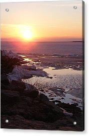 Sunset Over Oneida Lake - Vertical Acrylic Print