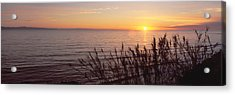 Sunset Over Pacific Ocean Near Santa Acrylic Print by Panoramic Images