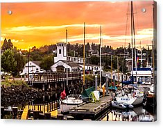 Acrylic Print featuring the photograph Sunset Over Port Townsend by TL  Mair