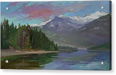 Sunset Over Priest Lake, Id Acrylic Print