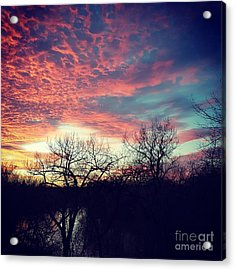 Sunset Over River Acrylic Print