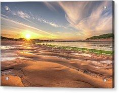 Sunset Over River Ythan Acrylic Print