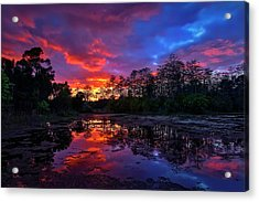 Sunset Over Riverbend Park In Jupiter Florida Acrylic Print
