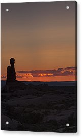 Sunset Over Rock Formation Acrylic Print