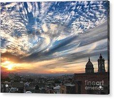 Sunset Over San Miguel De Allende Acrylic Print