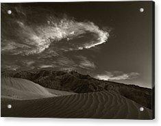 Sunset Over Sand Dunes Death Valley Acrylic Print by Steve Gadomski