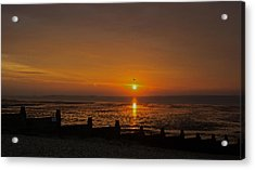Sunset Over Sheppey 2 Acrylic Print by Simon Kennedy