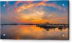 Sunset Over Shrewsbury Bay Acrylic Print