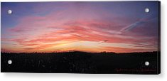 Acrylic Print featuring the photograph Sunset Over Sw Ontario P1 by Maciek Froncisz