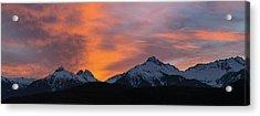 Sunset Over Tantalus Range Panorama Acrylic Print