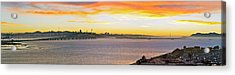 Sunset Over The Bay Acrylic Print by Kelley King