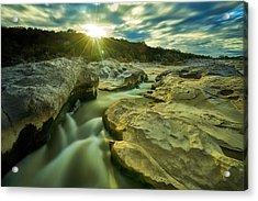 Sunset Over The Cascade Acrylic Print