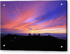 Sunset Over The Clouds Acrylic Print