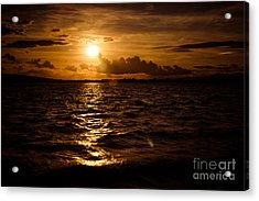 Sunset Over The Cunnigar Acrylic Print