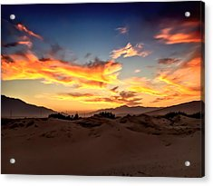 Sunset Over The Desert Acrylic Print