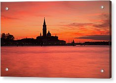 Sunset Over The Grand Canal, Venice, Acrylic Print