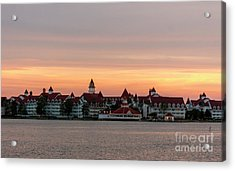 Sunset Over The Grand Floridian Acrylic Print