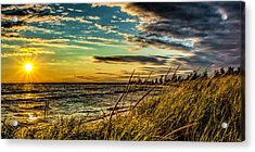 Sunset Over The Great Lake Acrylic Print