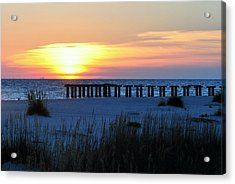 Sunset Over The Gulf Of Mexico Acrylic Print by Steven Scott
