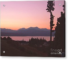 Sunset Over The Hood Canal In Washington State Acrylic Print