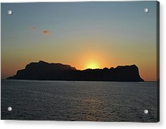 Sunset Over The Isle Of Capri. Acrylic Print by Terence Davis
