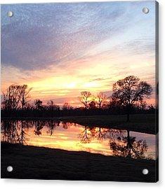Sunset On The Lake Acrylic Print by Jen McKnight