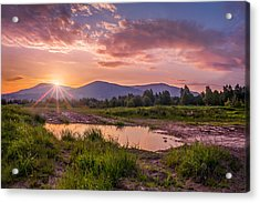 Sunrise Over The Little Beskids Acrylic Print