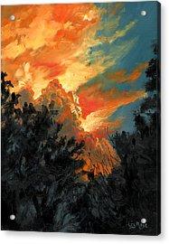 Sunset Over The Little Wekiva Acrylic Print by Liz Rose