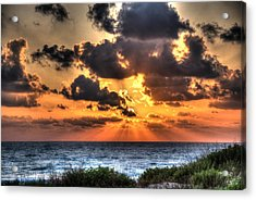 Sunset Over The Mediterranean 2 Acrylic Print