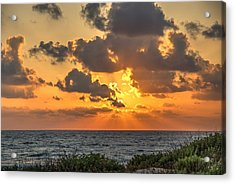 Sunset Over The Mediterranean  Acrylic Print