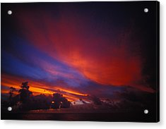 Sunset Over The Ocean Acrylic Print by Nick Norman