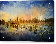 Sunset Over The Okefenokee Acrylic Print
