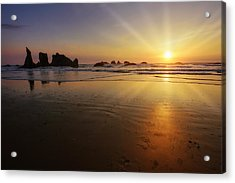 Sunset Over The Pacific  Acrylic Print