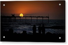 Acrylic Print featuring the photograph Sunset Over The Pier by Ryan Smith