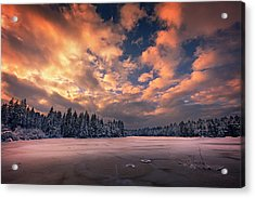 Sunset Over The Pound Acrylic Print