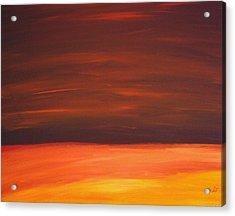 Sunset Over The Sandhills Acrylic Print by Leonard Frederick