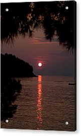 Sunset Over The Sea - Croatia Acrylic Print