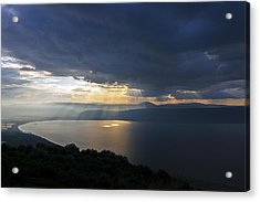Sunset Over The Sea Of Galilee Acrylic Print