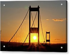 Sunset Over The Severn Acrylic Print by Brian Roscorla