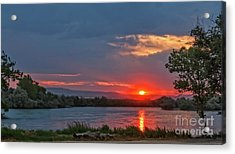 Sunset Over The Snake River Acrylic Print