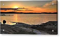 Sunset Over The Sound Acrylic Print
