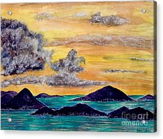Sunset Over The Virgin Islands Acrylic Print