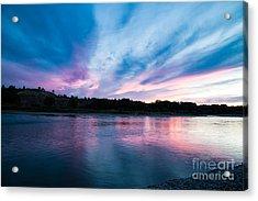 Sunset Over The Yellowstone Acrylic Print